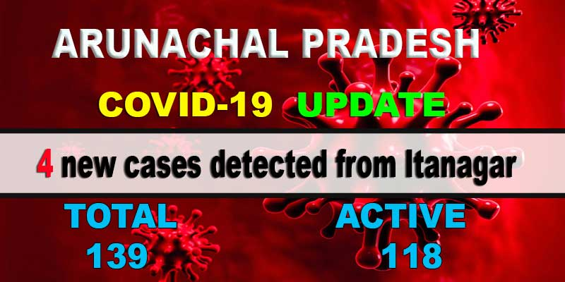 Arunachal: 4 fresh COVID-19 cases detected from Itanagar, tally rises to 139