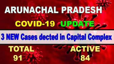 Photo of Arunachal: 3 more Covid-19 positive case in Capital Complex
