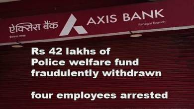 Photo of Itanagar: Rs 42 lakhs of Police welfare fund from Axis bank account fraudulently withdrawn, four employees arrested