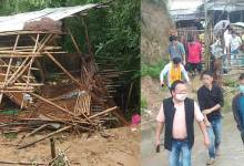 Itanagar: Tarh Soping visits Donyi Colony where a girl died in the landslide