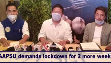 Photo of Arunachal fight coronavirus: AAPSU demands lockdown for 2 more weeks