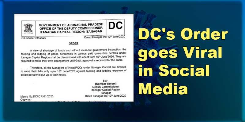 Itanagar: DC's order goes viral in social media