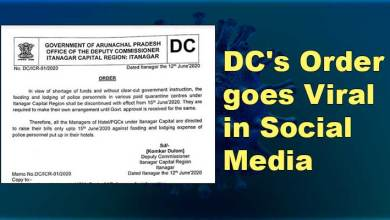 Photo of Itanagar: DC's order goes viral in social media