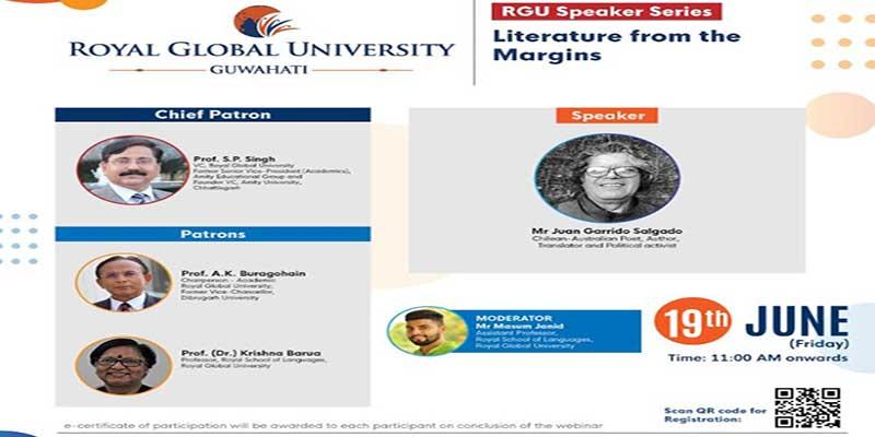 Assam: RGU organised webinar on 'Literature from the Margins'