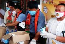 Photo of Arunachal: BJP Minority Morcha distributes Face Masks, Sanitizers in Gohpur Tinali