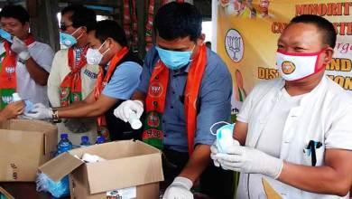 Arunachal: BJP Minority Morcha distributes Face Masks, Sanitizers in Gohpur Tinali