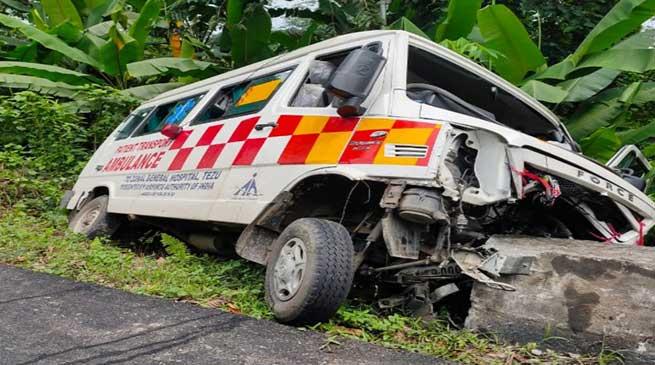 Arunachal: 1 dies after Ambulances dashes with roadside culvert