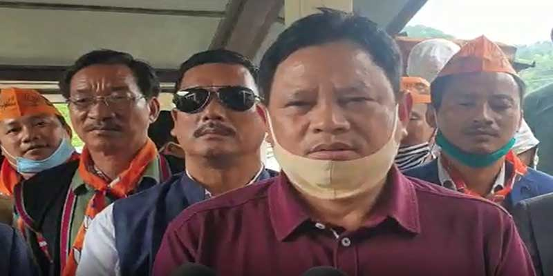 Arunachal: State BJP President ignores the guideline of mask wearing and  Social distancing- Alleged APCC