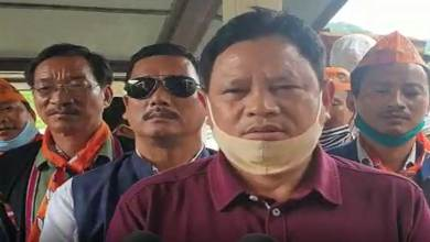 Photo of Arunachal: State BJP President ignores the guideline of mask wearing and  Social distancing- Alleged APCC