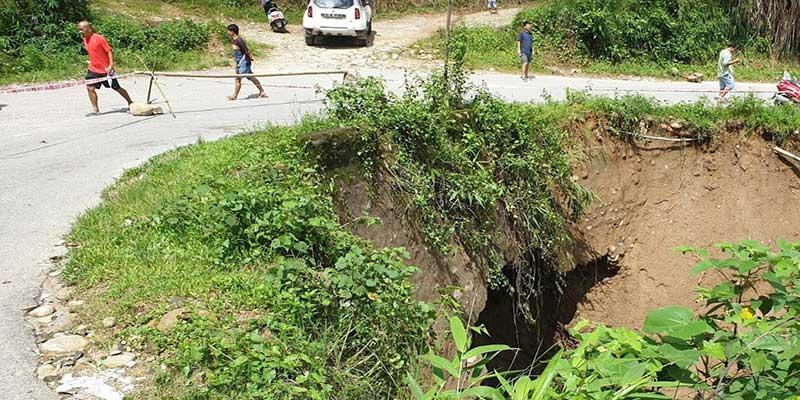Itanagar: Culvert on Ganga-Jullang road may collapse any time