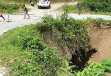 Itanagar: Culvert on Ganga-Jullang road may collapse any time