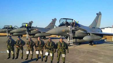Photo of Five Rafale jet take off from France airbase to India