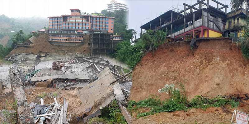 Itanagar:Rain leaves a trail of destruction in capital complex