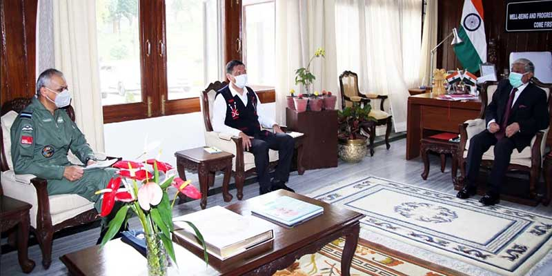 Arunachal Governor reviews Air Security with Chief Minister & AOC-in-C, EAC