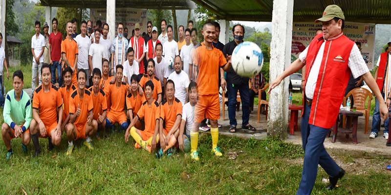 Arunachal: BJYM organises friendly football match to celebrates National Sports Day