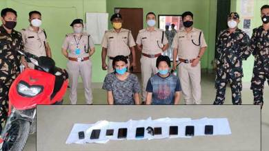 Itanagar: 3 phone snather arrested, 9 phone,1 scooty seized by Capital Police