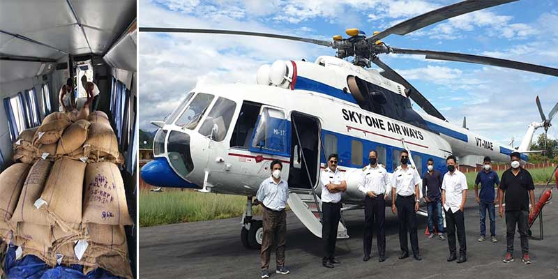 Arunachal: State govt starts airdropping of PDS items in Mengio circle