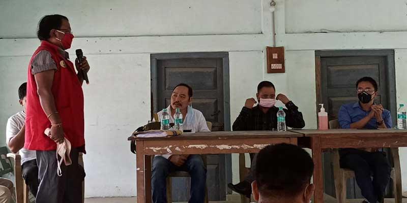 Arunachal: Eco-Sensitive Zone meeting of fringe villages of DEWS held at CO office Oyan