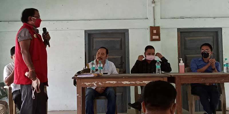 Arunachal: Eco-Sensitive Zone meeting of fringe villages of DEWS held at CO office Oyan
