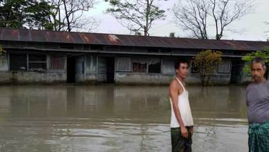 Photo of Arunachal: Flood water of Siang river inundates DEWS's Jeepghat beat office