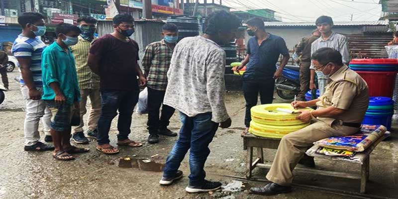 Itanagar: Capital Police imposed fine of Rs 500 to 88 for not wearing Mask