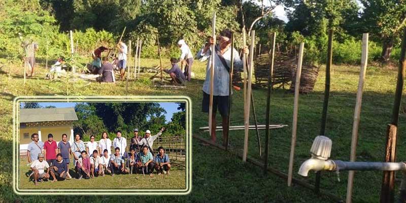 Arunachal: Radang Sirum' of Borguli volunteers to repair the damaged fencing of PHC Borguli