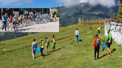 Arunachal: Gandhi Jayanti celebarted at Tawang with Cleanline drive, cycling etc