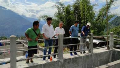 Photo of Arunachal: Ojing Tasing inspected water supply project at Boleng