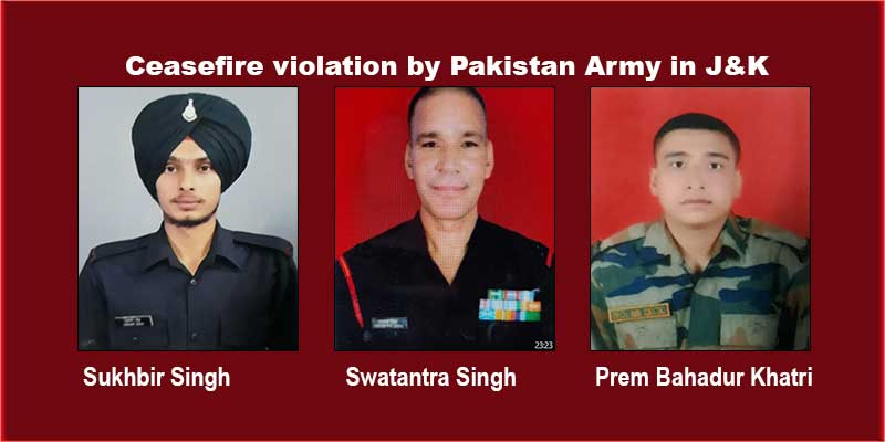 Ceasefire violation by pakistan Army in J&K's Rajouri, Poonch
