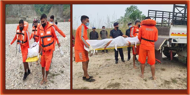 Arunachal: NDRF team retrieve dead body from Dikrong River in Papumpare