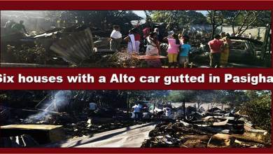 Arunachal: Six houses with a Alto car gutted inPasighat