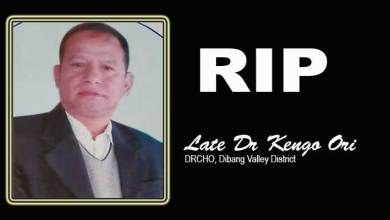 Arunachal: CoSAAP mourns demise of Dr Kengo Ori, DRCHO of Dibang Valley