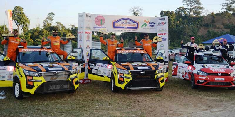 Itanagar: Gaurav Gill roars to victory in Round 2 of Indian National Rally Championship 2020