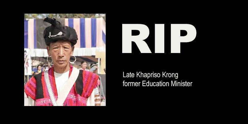 Arunachal: Former Education Minister Khapriso Krong passes away