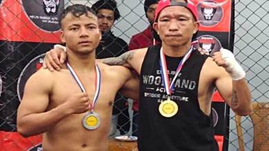 Arunachal: Monda Sangno won against Meghalaya's Phnnehbur Myllienngap in Inter Club Mixed Martial Arts Championship 2020