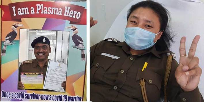 Arunachal: 9 Arunachal cops donate plasma voluntarily