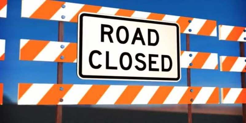 Itanagar: Road closed for cement concrete pavement work