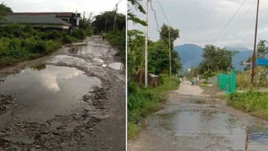 Arunachal: Potholes On Tamlanagar Roads Create Hinderance For Commuters