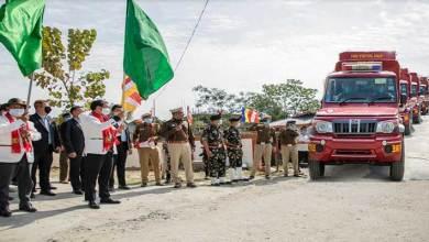 Arunachal: Pema Khandu flags off 22 fire crew vehicles, inaugurates Sub-Fire Station at Bhalukpong