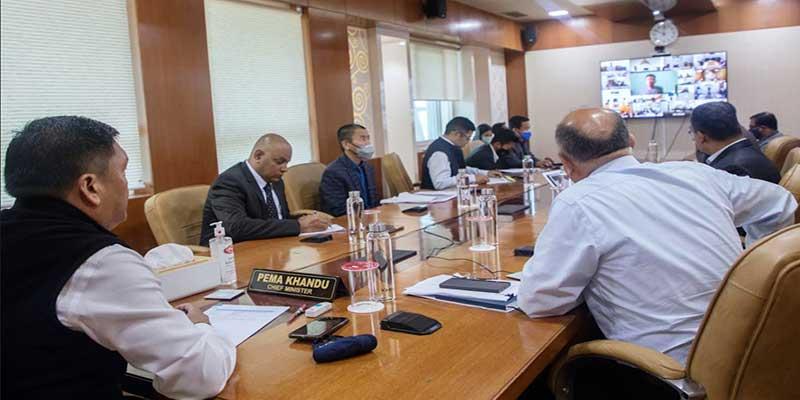 CM Pema Khandu chairs monthly monitoring meeting Arunachal e-Pragati