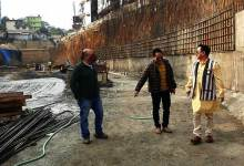 Itanagar: BJP team visits under construction underpass at Bank Tinali