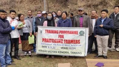 Arunachal: Training for Practicing Farmers of Kyidphel held