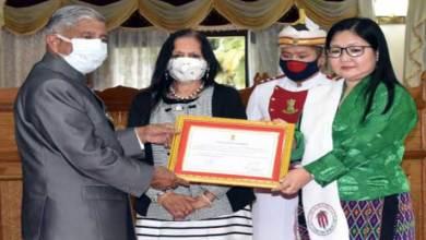 Arunachal:Governor presents Nari Shakti Samman