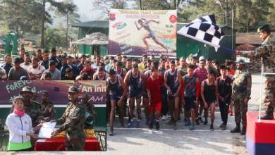 Arunachal:  Army orgnises Mini Marathon at Walong to observe Swarnim Vijay Varsh