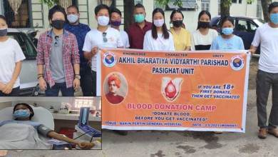 Arunachal: ABVP Pasighat organizes blood donation camp