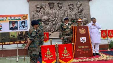 Assam: Swarnim Vijay Mashaal Brought to War Memorial at Guwahati