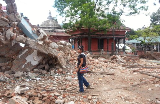 Nanda Madhyamic Bidyalaya school devastation by Nepal earthquake