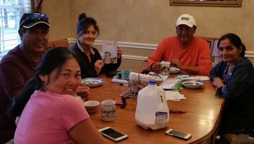 11/08/16 breakfast meeting Project Nepal, Actionworks Nepal and ArunasNepalRelief