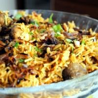 Chettinadu Style Mushroom Biryani