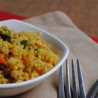 {Recipe} Broken Wheat Upma with Vegetables